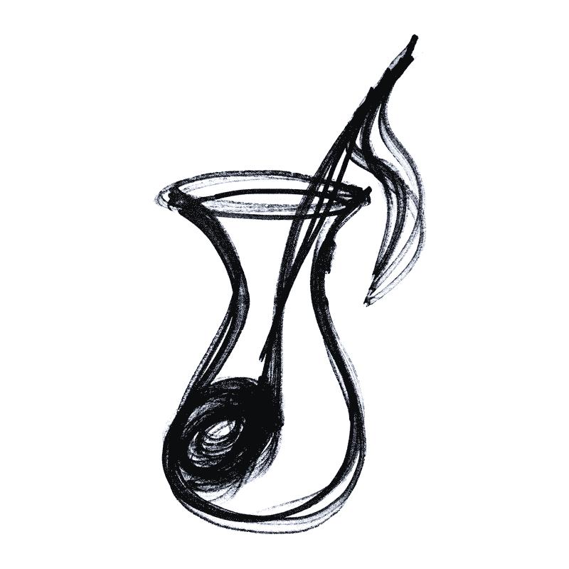 Makam kampı - çay bardağı içinde nota